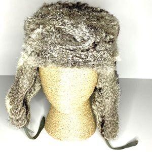 Vintage Russian Genuine Rabbit Fur Trapper Hat